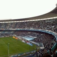 Photo taken at Estadio Juan Domingo Perón (Racing Club) by Hernan G. on 8/4/2012