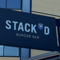 Photo taken at Stack'd Burger Bar by Laura B. on 5/10/2012
