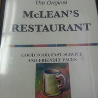 Photo taken at McLeans Restaurant by Sylvester N. on 9/9/2012
