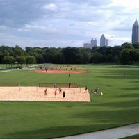 Photo taken at Piedmont Park Active Oval by Nikki F. on 8/7/2012