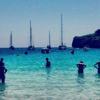 Photo taken at Cala Turqueta by Sebastián R. on 8/28/2012