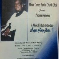 Photo taken at Mt Carmel Baptist Church by Elizabeth W. on 6/3/2012