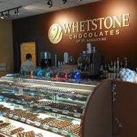 Photo taken at Whetstone Chocolates of St. Augustine by Lynette V. on 8/10/2012
