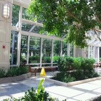 Photo taken at Prudential Center Courtyard & Garden by Mônica G. on 7/14/2012