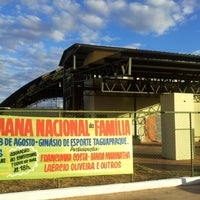 Photo taken at Arena Taguaparque by DJ Abilio G. on 8/18/2012