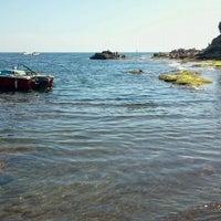Photo taken at Scoglione a Marechiaro by Alessandro L. on 7/22/2012