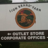 Photo taken at Lion Brand Yarn Outlet by Maria W. on 9/15/2011