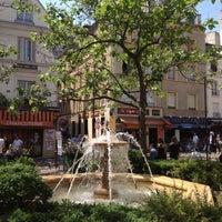 Photo taken at Place de la Contrescarpe by Jenna T. on 5/27/2012