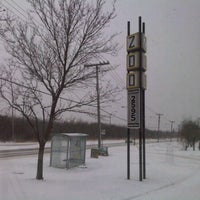 Photo taken at Assiniboine Park Zoo South Gate Tram Stop by Robin F. on 1/21/2012