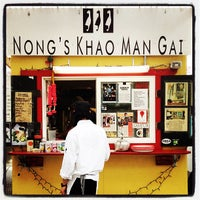 Photo taken at Nong's Khao Man Gai by Aaron L. on 2/1/2012