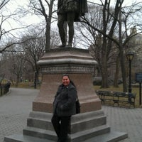 Photo taken at William Shakespeare Statue by Cuca A. on 3/4/2012