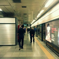 Photo taken at Yaksu Stn. by Hyun woo S. on 11/13/2011