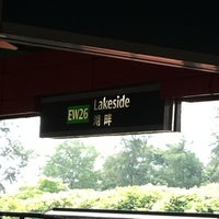 Photo taken at Lakeside MRT Station (EW26) by Lai Choo W. on 8/28/2011