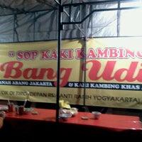 Photo taken at Sop Kaki Kambing Bang Udin by Joko Budi P. on 6/29/2012