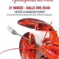 Photo taken at Trattoria Il Bragosso by Trattoria Il Bragosso on 3/14/2012