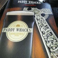 Photo taken at Paddy Whacks Irish Sports Pub by John H. on 5/4/2012
