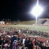 Photo taken at Mustang Panther Stadium by Paul S. on 10/15/2011