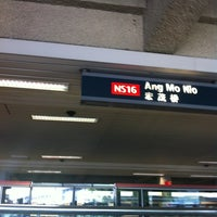 Photo taken at Ang Mo Kio MRT Station (NS16) by Jackson L. on 4/4/2012