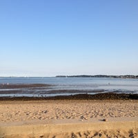 Photo taken at Dane Street Beach by Cathy F. on 9/1/2012