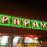 Photo taken at Papaya King by Dora V. on 10/6/2011