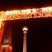Photo taken at Berliner Weihnachtszeit am Roten Rathaus by Thilo W. on 12/15/2011