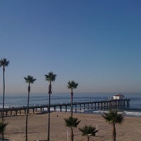 Photo taken at Manhattan Beach by Desislava M. on 11/2/2011