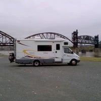 Photo taken at Downtown Riverside RV Park by Darren P. on 12/6/2011