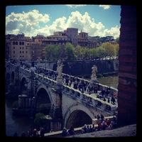 Photo taken at Ponte Sant'Angelo by iascha i. on 4/8/2012