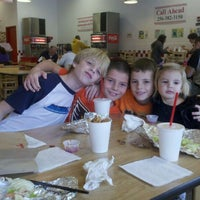 Photo taken at Five Guys by Stacy V. on 1/16/2012