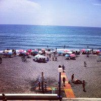 Photo taken at Playa Ferrara by Arriskya on 7/14/2012