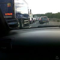 Photo taken at M56 Junction 12 / A557 by Joanne W. on 7/24/2012