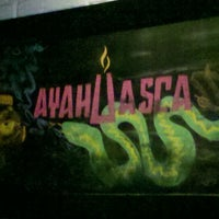 Photo taken at Ayahuasca Restobar Lounge by Angela C. on 6/17/2012