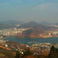 Photo taken at 안심산정상 by Sara P. on 1/6/2012