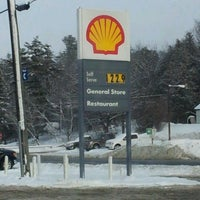 Photo taken at Shell by Adam F. on 1/31/2012