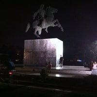 Photo taken at Άγαλμα Μεγάλου Αλεξάνδρου by George B. on 8/17/2011