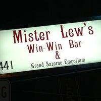 Photo taken at Mr. Lew's Win Win Bar & Grand Sazerac Emporium by hollerotron on 4/15/2011