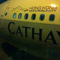 Photo taken at Cathay Pacific Airways( CX692) by Mohamad A. on 1/13/2012