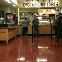 Photo taken at Einstein Bros Bagels by Nadya M. on 1/31/2012