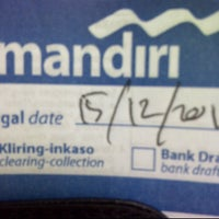 Photo taken at Bank Mandiri Bontang Ahmad Yani by KangmasJokoErlianto E. on 12/15/2011