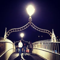 Photo taken at The Ha'penny (Liffey) Bridge by Jérôme T. on 7/28/2012