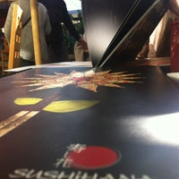 Photo taken at Sushihana by Fernanda L. on 6/8/2012