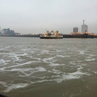Photo taken at Woolwich Ferry by Ganesh T. on 11/21/2011