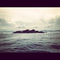 Photo taken at Hashima (Gunkanjima) Island by ykr_gnn on 8/8/2012