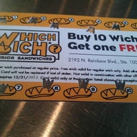 Photo taken at Which Wich? Superior Sandwiches by Tommy S. on 3/27/2012