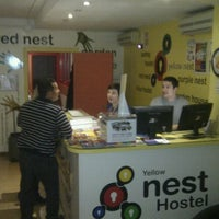Photo taken at Yellow Nest Hostel Barcelona by Andre d. on 1/28/2012