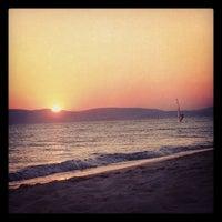 Photo taken at Plaka Beach by Peter M. on 8/16/2012