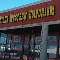 Photo taken at Wild Bill's Western Emporium by Bob N. on 1/19/2012