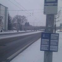 Photo taken at Skácelova (tram, bus) by Matthias S. on 2/15/2012