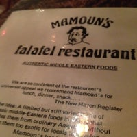 Photo taken at Mamoun's Falafel Restaurant by Hila R. on 3/26/2012