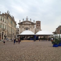 Photo taken at Piazza Sordello by Andrea T. on 9/4/2012